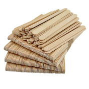 50Pcs Wooden Craft Sticks - Wooden Ice Cream Sticks Treat Sticks Freezer Pop Sticks Popsicle Sticks