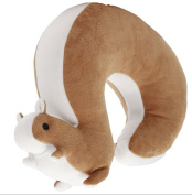 BESTIM INCUK Plush Big Tail Squirrel Toy U-shape Pillow Soft Toys Travel Neck Pillow