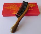 Sandalwood Hair Comb - Anti Static Natural Hair Detangling Comb - Handmade Wooden Horn Comb with Premium Gift Box S3