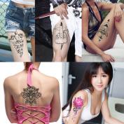 COKOHAPPY 6 Sheets Large Temporary Tattoo Flash Body Art Sticker , Totem Design For Men Women
