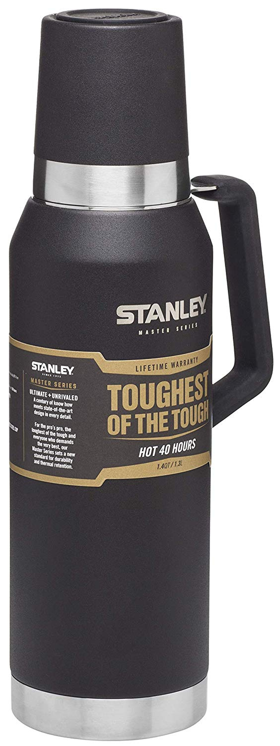 STANLEY Master Stainless Steel Vacuum Insulated Flask Bottle, Foundry  Black, 1 3 Litre