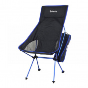 Lightweight Portable Folding Chair, Outeck Foldable Recliner Chair for Indoor Outdoor Event,Hiking,Picnic,Fishing with Back Cusion,Easy Storage with Storage Bag,Only 1.18KG