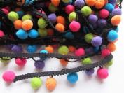 YYCRAFT Multicolor Pom Pom Ball fringe Trim Ribbon Sewing