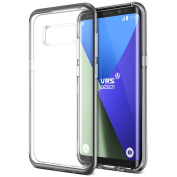 """Galaxy S8 Case, [Black] """"Made in Korea"""" Clear Back Slim Fit Shockproof Cover [Crystal Bumper] Premium Soft TPU Bumper with Edge Drop Protection Phone Case by VRS Design® for Samsung Galaxy S8"""