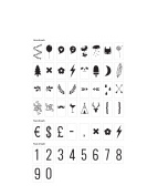 Numbers & Symbols Pack - For A4 / A5 CINEMATIC LIGHTBOX - Cinema Sign