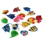 Well-Goal 1 pcs Colourful Artificial Plastic Bubble Lamp Fish Jellyfish Seahorse fr Aquarium tank