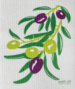 Swedish Treasures Wet-it! Cleaning Cloth, Olive Branch, Super Absorbent, Reusable, Biodegradable, All-purpose