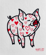 Swedish Treasures Wet-it! Cleaning Cloth, Lovely Pig, Super Absorbent, Reusable, Biodegradable, All-purpose