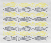 Swedish Treasures Wet-it! Cleaning Cloth, Catch of the Day in Yellow, Super Absorbent, Reusable, Biodegradable, All-purpose