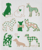 Swedish Treasures Wet-it! Cleaning Cloth, Dog Lover in Green, Super Absorbent, Reusable, Biodegradable, All-purpose