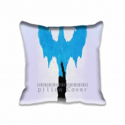 Square 41cm x 41cm Zippered Dragon Age Blue Art Illust Minimal Pillowcases Digital Print Adults Kids Cushion Covers