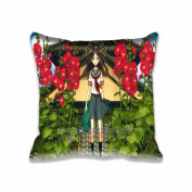 Square 41cm x 41cm Zippered Flower On Roof Illust Pillowcases Digital Print Adults Kids Cushion Covers