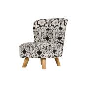 Babyletto Pop Mini Chair, Bazaar Cotton in Night with Walnut Legs