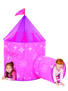 Mediaeval Princess Castle Kids Play Tent and Tunnel Set with Travel Case - Colourful Outdoor Pop Up Play Tent Adventure Kit for All Kids Party Events | Backyards | Camping | BBQs - Perfect for Girls