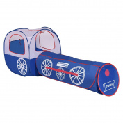 Costzon 2 In 1 Kids Tunnel House Pop-up Children Play Tent with Tunnel, Tent and Zipper Storage Bag