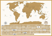 White Scratch Off World Map - Travel Tracker