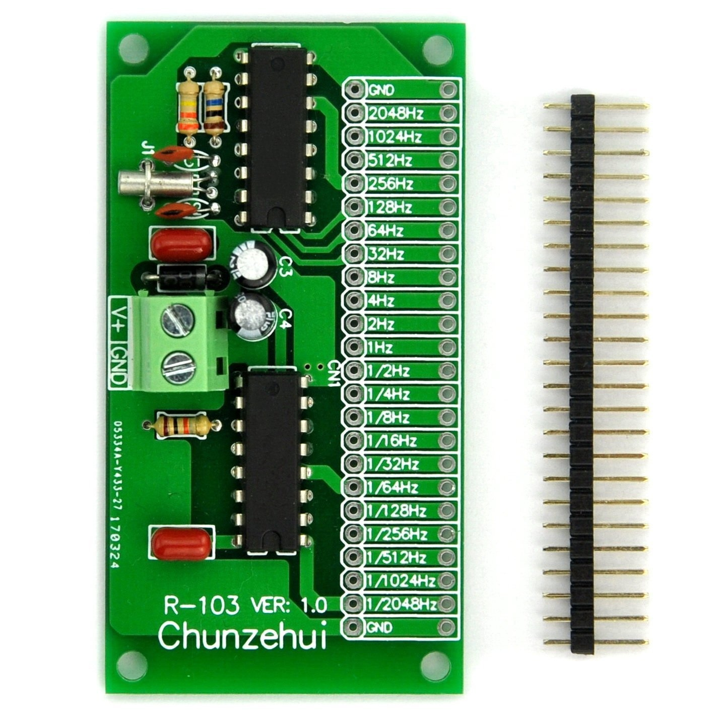 Chunzehui 2048hz 000049hz1 Extremely Super Low Square Wave Oscillator Circuit Frequency Module Signal Generator Total 22 Output Ports