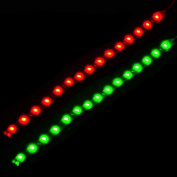 beler 2pcs 12V Waterproof Car Boat Marine Red Green Navigation Lights Lamps LED Lighting Strip