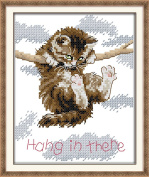 CaptainCrafts New Cross Stitch Kits Patterns Embroidery Kit - Cat Hang In There