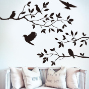 Vibola Removable Tree & Bird Wall Sticker Vinyl Art Decal Mural Home Room DIY Decor