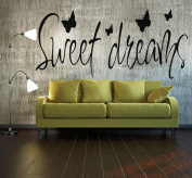 Vibola PVC Removable Wall Sticker Decal Sweet Dreams Decal Bedroom Home Decor