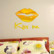 Vibola DIY Removable Kiss Me Mirror Wall Sticker Decal Art Mural Home Room Decor