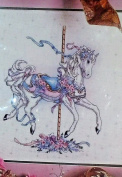 White Carousel Horse 50584 Cross Stitch Kit Something Special New 36cm X 36cm