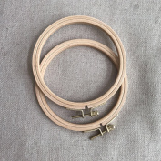 WRMHOM 12cm Wooden Embroidery Hoop Hand Stitching Hoop - Cross Stitch Hoop - Framing Hoop - Stitchery Hoop - Craft Supply Hoop
