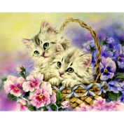 Fipart DIY diamond painting cross stitch craft kit. Wall stickers for living room decoration. Cat