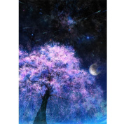 Fipart DIY diamond painting cross stitch craft kit. Wall stickers for living room decoration. Shaft
