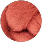 NZ Corriedale Wool Roving for Felting - 30ml Copper