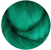 NZ Corriedale Wool Roving for Felting - 30ml Green