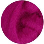 NZ Corriedale Wool Roving for Felting - 30ml Magenta