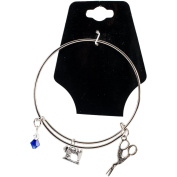 Charming Accents Adjustable Charm Bangle 19cm -Sewing Machine