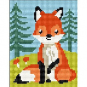 Collection D'Art Stamped Needlepoint Kit 20X25cm-Fox-Cub