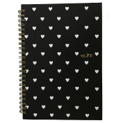 Sale - Gold Spiral Hardcover Notebooks A5 / XOXO Hearts / Gold Chevron /Preppy Stripes / Have Courage & Be Kind / Best Seller / Lunarbaystore.com