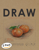 Premium Paper Drawing Pad for Pencil, Ink, and Marker. Great for Art, Design and Education. (Jumbo 22cm x 28cm )