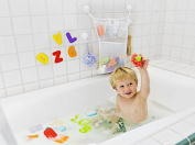 Leoyoubei Bath Tub Toys Organiser with 2 Suction Cups,4 Pocket Hanging Wall Organiser,Large,50cm x 41cm