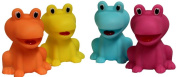 1 ASSORTED colour RUBBER FROG