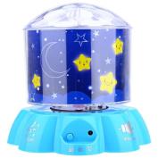 4 Star Projector LED Rotating Night Light Touch Sensor Lamp
