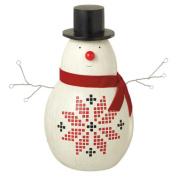 25cm Alpine Chic Small Decorative Snowman Christmas Table Top Figure