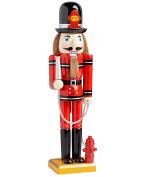 Firefighter Large Unique Decorative Holiday Season Wooden Christmas Nutcracker