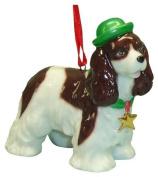 StealStreet SS-D-X046 Cute Christmas Holiday Cocker Spaniel Dog Ornament Statue Figurine by StealStreet