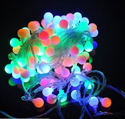 URToys 5M 50LEDs Colourful RGB Round Ball Fairy LED String Party LED Twinkle Ball Party Tree Light Holiday Wedding Christmas Party Decoration Battery Operate
