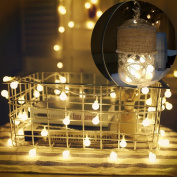 LEDMOMO 10M 80 LED Globe Ball String Lights, Led Battery Operated String Lights for Christmas , Wedding, Bedroom, Holiday, Party Decor