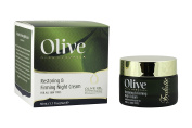 Olive Restoring & Firming Night Cream by Frulatte with Certified Organic Olive Oil rich in antioxidants. For all skin types 50ml