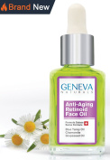 Geneva Naturals Anti-Ageing Retinoid Sleeping Night Oil with Blue Tansy Oil, Chamomile, and Grapeseed Oil - 30ml