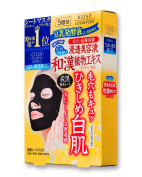 KOSE COSMEPORT Clear Turn Pore Black Face Mask - 1Box For 5pcs