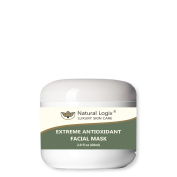 Natural Logix's Extreme Antioxidant Facial Mask with Kaolin Clay, Natural Oils, Glycolic & Lactic Acids turns back the clock for smoother, younger, happier and truly vibrant skin, 70% Organic, 60ml