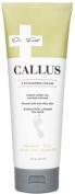 Dr. Foot Callus Cream with Urea, Jojoba Oil, Lactic Acid, Vitamin E. Exfoliating cream to soften dry, cracked calluses. 240ml tube.